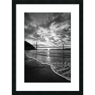 Amanti Art Framed Art Print Beacon (Seashore) by Dave Gordon 24 x 32 Frame Satin Black (DSW3909439)