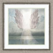 "Amanti Art Framed Art Print I Am Guided (Angel) by David M (Maclean) 23""W x 23""H Frame Silver Pewter (DSW3909461)"