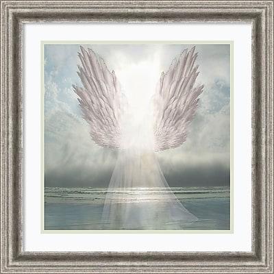"Amanti Art Framed Art Print I Am Guided (Angel) by David M (Maclean) 23""W x 23""H Frame Silver Pewter (DSW3909461)"