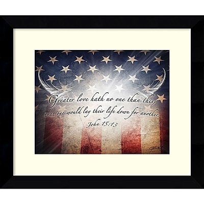 Amanti Art Framed Art Print No Greater Love Flag by Jason Bullard 27