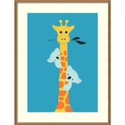 "Amanti Art Framed Art Print I'll Be Your Tree (Giraffe) by Jay Fleck 27""W x 35""H Frame Natural Maple (DSW3909486)"