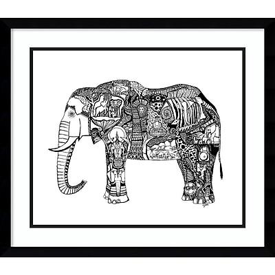 Amanti Art Framed Art Print Goodbye Elephant by Liz Ash 23