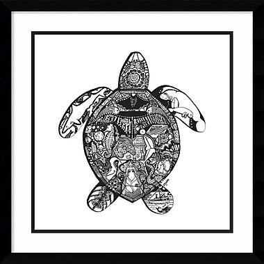 Amanti Art Framed Art Print Goodbye Sea Turtle by Liz Ash 21