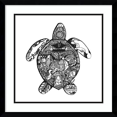 Amanti Art Framed Art Print Goodbye Sea Turtle by Liz Ash 21