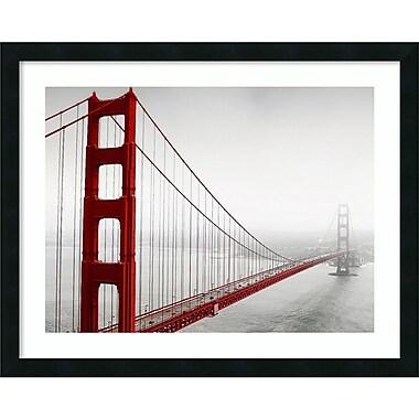 Amanti Art Framed Art Print In259 2 (Golden Gate) by PhotoINC Studio 30 x 24 Frame Satin Black (DSW3909516)