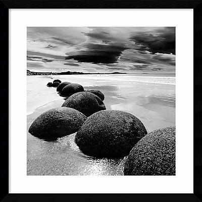 "Amanti Art Framed Art Print In13501 3 (Seashore) by PhotoINC Studio  21"" x 21""H, Frame Satin Black (DSW3909518)"