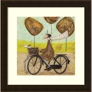 "Amanti Art Framed Art Print Best Face Forward Bike by Sam Toft 17""W x 17""H Frame Espresso Brown (DSW3909521)"