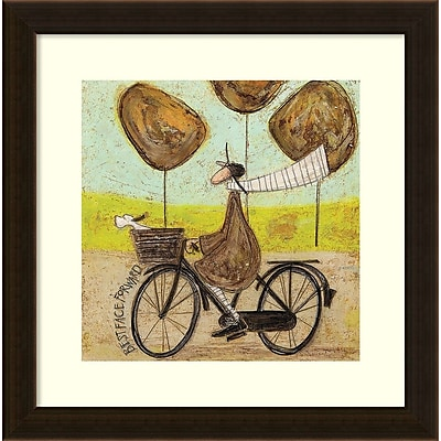 Amanti Art Framed Art Print Best Face Forward Bike by Sam Toft 17
