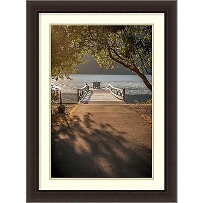 Amanti Art Framed Art Print Crescent Lake Pier by Tim Oldford 24