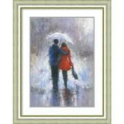"Amanti Art Framed Art Print Rain Romance by Vickie Wade 31""W x 39""H, Frame Silver (DSW3909559)"