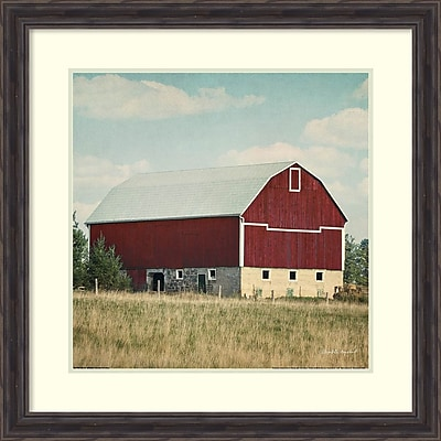 Amanti Art Framed Art Print Blissful Country VI Crop (Barn) by Elizabeth Urquhart 29 x 29 Frame Rustic Pine (DSW3909665)