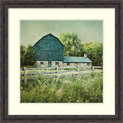 Amanti Art Framed Art Print Blissful Country III (Barn) by Elizabeth Urquhart 29 x 29 Frame Rustic Pine (DSW3909666)