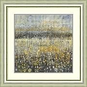 "Amanti Art Framed Art Print  Rain Abstract II by Danhui Nai 33""W x 33""H, Frame Silver (DSW3909702)"
