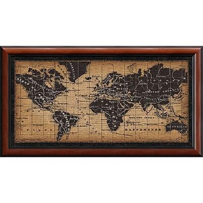 Amanti Art Framed Art Print Old World Map by Pela Studio 44