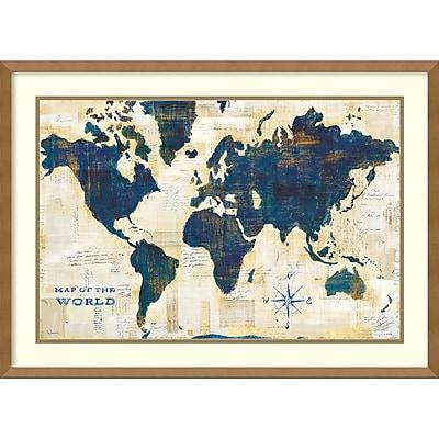 Amanti Art Framed Art Print World Map Collage by Sue Schlabach 29