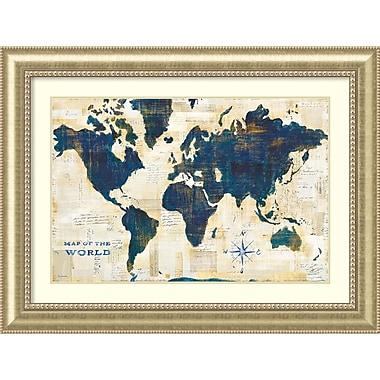 Amanti Art Framed Art Print World Map Collage by Sue Schlabach 49