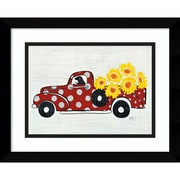 "Amanti Art Framed Art Print Modern Americana Farm VI Truck, 15""W x 12""H Frame Satin Black (DSW3909721)"