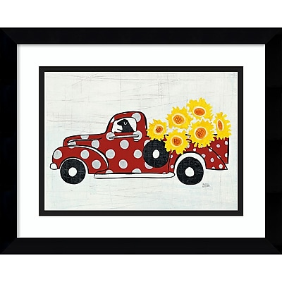 Amanti Art Framed Art Print Modern Americana Farm VI Truck, 15