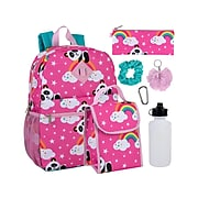 A.D.Ventures Backpack Set, Rainbow and Panda, Pink (8905)