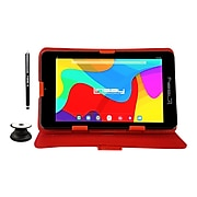 """Linsay 7"""" Tablet, WiFi, 2GB RAM, 32GB, Android, Black/Red (F7UHDCRP)"""