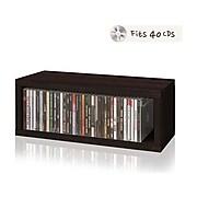"Way Basics 7"" CD Storage Rack, Espresso (WB-CD-EO)"