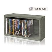 "Way Basics 9.4"" DVD Storage Rack, Gray (WB-DVD-GY)"