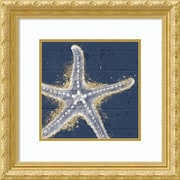 Amanti Art Framed Art Print Calm Seas XI no Words (Sea Star) by Janelle Penner 22 x 22, Frame Gold (DSW3909744)