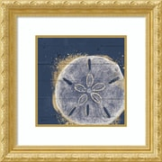 Amanti Art Framed Art Print Calm Seas X no Words Sand Dollar by Janelle Penner 22 x 22, Frame Gold (DSW3909745)