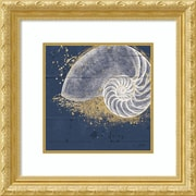 Amanti Art Framed Art Print Calm Seas IX no Words (Nautilus) by Janelle Penner 22 x 22 Frame Gold (DSW3909746)