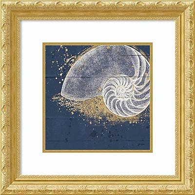 Amanti Art Framed Art Print Calm Seas IX no Words (Nautilus) by Janelle Penner 22 x 22 Frame Gold (DSW3909746)