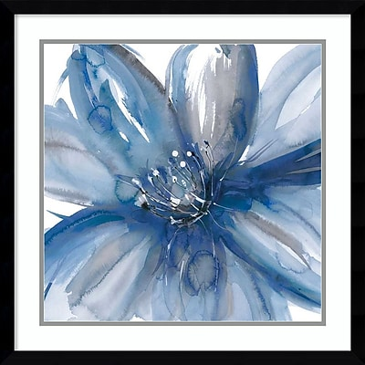 """""Amanti Art Framed Art Print Blue Beauty I (Floral) by Rebecca Meyers 23""""""""W x 23""""""""H, Frame Satin Black (DSW3910557)"""""" 24010713"