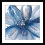 "Amanti Art Framed Art Print Blue Beauty I (Floral) by Rebecca Meyers 23""W x 23""H, Frame Satin Black (DSW3910557)"