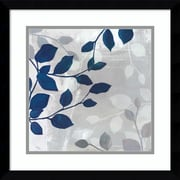 "Amanti Art Framed Art Print Leaves in the Mist II by Tandi Venter 17""W x 17""H, Frame Satin Black (DSW3910563)"