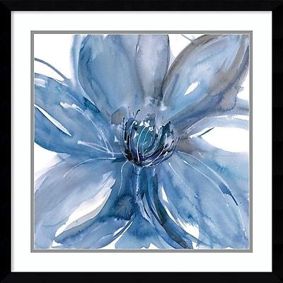 """""Amanti Art Framed Art Print Blue Beauty II (Floral) by Rebecca Meyers 23""""""""W x 23""""""""H, Frame Satin Black (DSW3910565)"""""" 24010722"