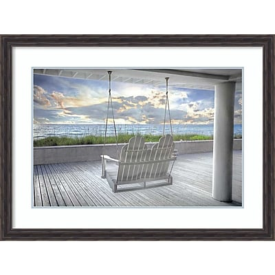 Amanti Art Framed Art Print Swing At The Beach by Celebrate Life Gallery 43