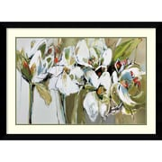 "Amanti Art Framed Art Print Spring Blooms (Floral) by Angela Maritz 45""W x 33""H, Frame Satin Black (DSW3910573)"