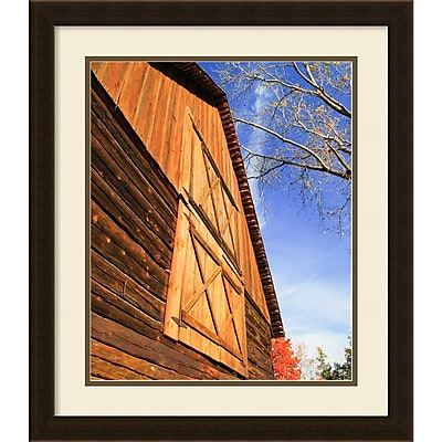 Amanti Art Framed Art Print Old World Barn by Matt Marten 20 x 23 Frame Espresso Brown (DSW3910637)