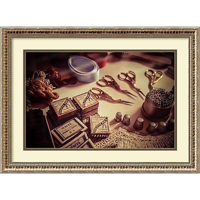 Amanti Art Framed Art Print Old World Sewing by Matt Marten 26 x 19 Frame Champagne Gold (DSW3910642)