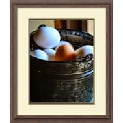 "Amanti Art Framed Art Print One in the Bunch (Eggs) by Matt Marten 22""W x 26""H, Frame Rustic Wood (DSW3910643)"