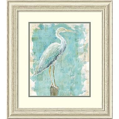 Amanti Art Framed Art Print Coastal Egret I v2 by Sue Schlabach 25 x 28 Frame White (DSW3910654)
