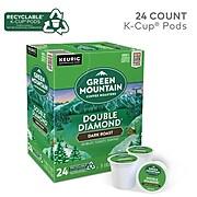 Green Mountain Double Diamond Coffee, Keurig® K-Cup® Pods, Dark Roast, 24/Box (4066)