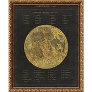 "Amanti Art Framed Art Print Astronomical Chart I (Moon) by Wild Apple Portfolio 20""W x 25""H, Frame Bronze  (DSW3926482)"