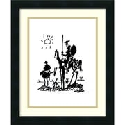"Amanti Art Framed Art Print 'Don Quixote' by Pablo Picasso 16""W x 19""H Satin Black Frame (DSW3929363)"