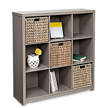 Honey Can Do 9-Cube Premium Laminate Organizer Shelf, Weathered Teak (SHF-01462)