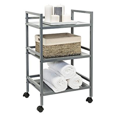 Honey Can Do 3-tier metal rolling cart, gray (CRT-03091)