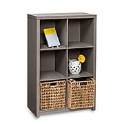 Honey Can Do 6-Cube Premium Laminate Organizer Shelf, Weathered Teak (SHF-01461)