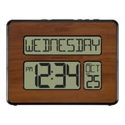 La Crosse Technology Atomic Calendar Walnut finish Digital Clock with Extra Large Digits (513-1419-WA)
