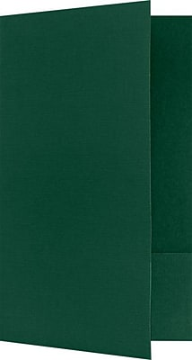 LUX Legal Size Folders - Standard Two Pockets 250/Pack, Green Linen (LF118DDP100250)