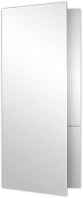 LUX 4 x 9 Mini Folders - Two Pockets 25/Pack, White Gloss (MF-4801-SG12-25)