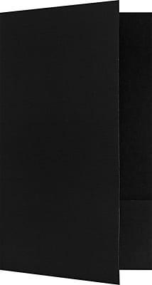 LUX Legal Size Folders - Standard Two Pockets 250/Pack, Black Linen (LF118DDBLK10025)